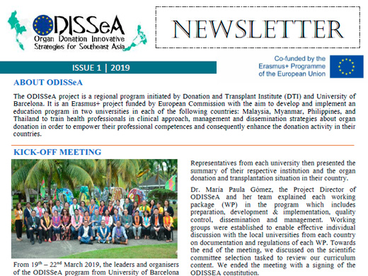 1st Newsletter of ODISSeA Project (PDF - 683KB)